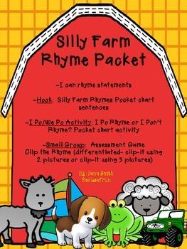 Silly Farm Rhyme Packet