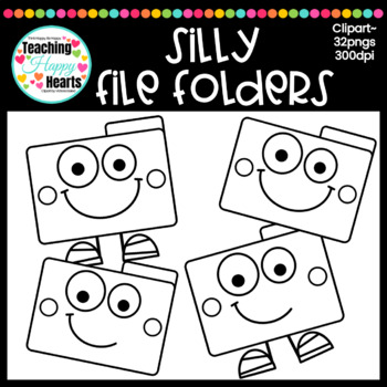 Silly File Folders Clipart