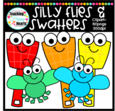 Flies and Fly Swatters Clipart