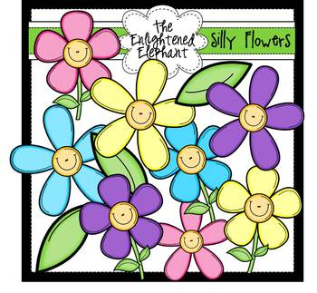 Silly Flowers Clip Art