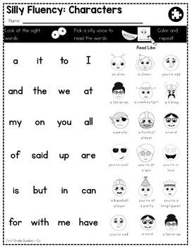 Silly Fluency: Adding Fun to Fluency Practice, K-2