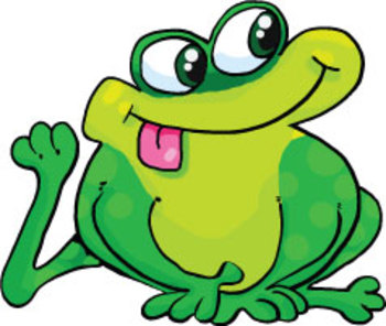 Silly Frog Cartoon