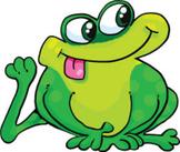 Silly Frog Cartoon