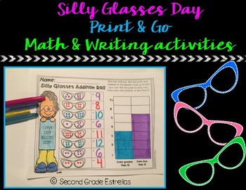 Silly Glasses Day Math & Writing Activities