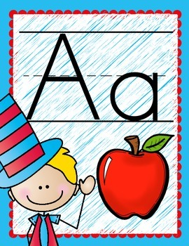 Silly Hat Classroom Posters--Alphabet, Numbers to 10, and Colors!