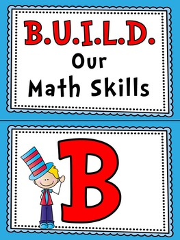 Silly Hat Kids | B.U.I.L.D. Math Centers Organization & Rotation Set-Up Pack
