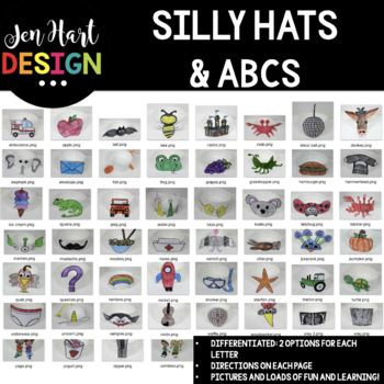 Silly Hats & ABCs  {52 Differentiated Hats}