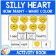 Valentine's Day Silly Heart Book Number & Color Cut & Paste Book