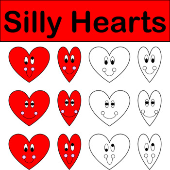 Silly Hearts Valentines Day Clip Art FREEBIE