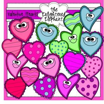 Silly Hearts Clip Art