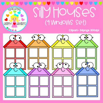Silly Houses {4 Windows Set}