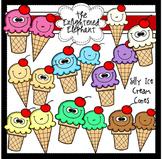 Silly Ice Cream Cones Clip Art