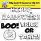 Silly Jack-O-Lanterns Clip Art
