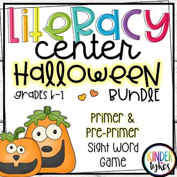 Silly Jack-O-Lanterns Literacy Center Game BUNDLE