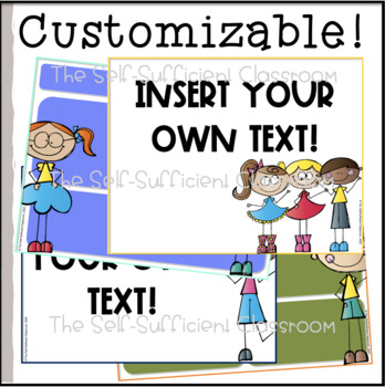 Silly Kids Morning Message Slides (Editable)