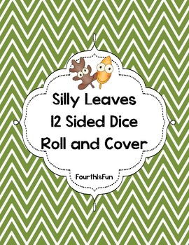 Silly Leaves 12 Sided Dice Roll and Cover