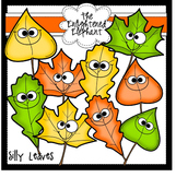 Silly Leaves Clip Art
