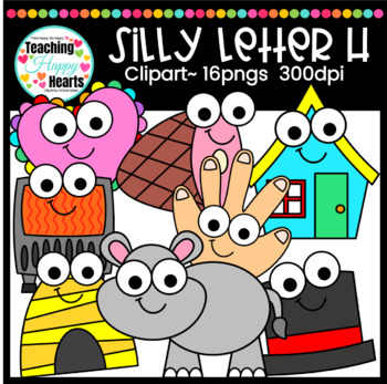 Silly Letter h Clipart