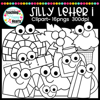 Silly Letter I Clipart By Victoria Saied