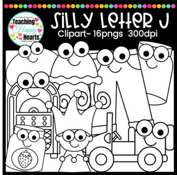 Silly Letter j Clipart