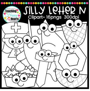 Silly Letter n Clipart