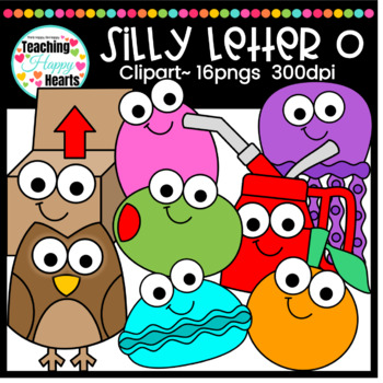 Silly Letter o Clipart