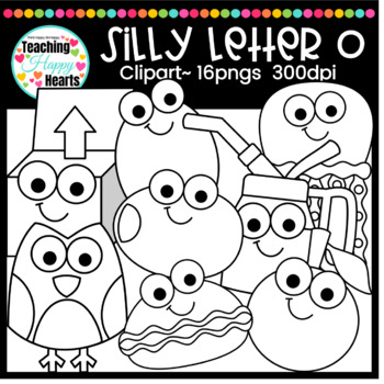 Silly Letter O Clipart By Victoria Saied