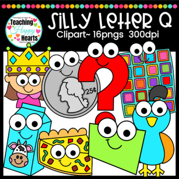 Silly Letter q Clipart