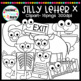 Silly Letter x Clipart
