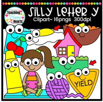 Silly Letter y Clipart