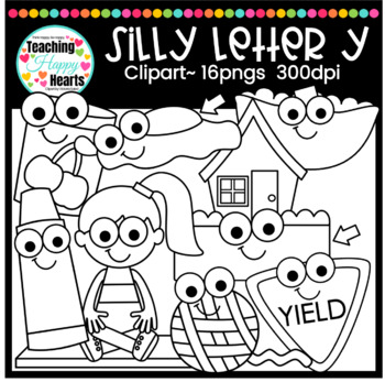 Silly Letter Y Clipart By Victoria Saied