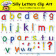 Silly Letters Clip Art