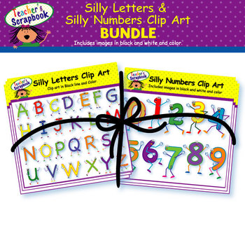 Silly Letters and Silly Numbers Clip Art Bundle