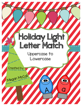 Silly Lights Letter Match (Uppercase/Lowercase): Color and Blackline