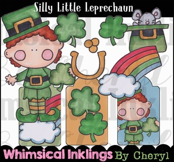 Silly Little Leprechaun- Saint Patricks Day Clipart Collection