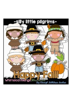 Silly Little Pilgrims Thanksgiving Clipart Collection