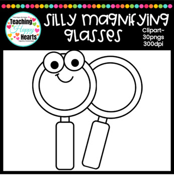 Silly Magnifying Glasses Clipart