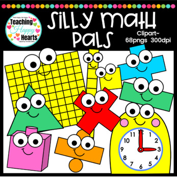 Silly Math Pals Clipart