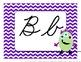 Silly Monster Alphabet Headers - Cursive