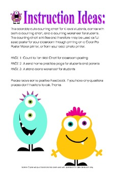 Silly Monster Counting Chart & Worksheet