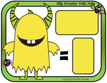Silly Monster Math Mats: Halloween Addition & Subtraction