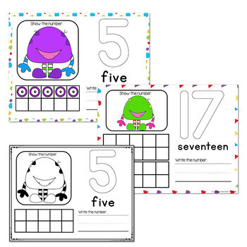 Silly Monster Numbers 1-20 Counting Activities | Counting to 20 | Math Centers