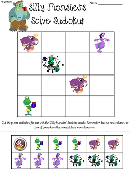 Silly Monster Primary Sudoku