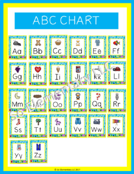 Silly Monsters ABC Chart Design 1