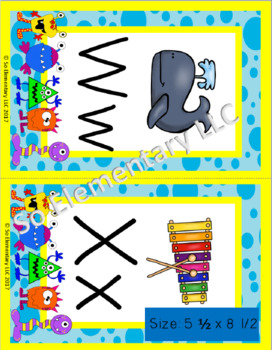 ABC Chart Silly Monsters Design 1