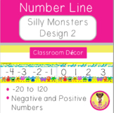 Silly Monsters Classroom Decor Number Line Design 2