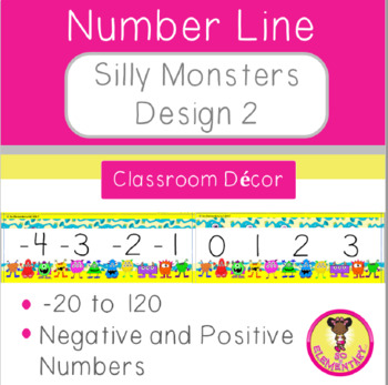 Number Line Silly Monsters Design 2