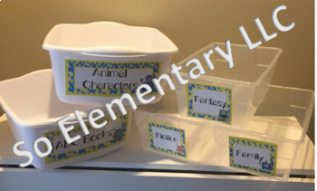 Silly Monsters Classroom Library Book Bin Labels Design 2