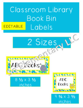 Classroom Library Book Bin Labels Silly Monsters Design 2 (Editable)