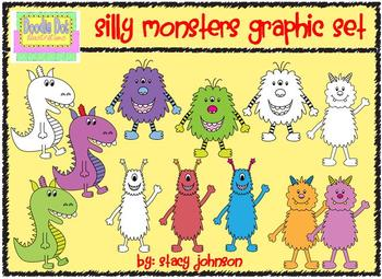Silly Monsters Clip Art Set